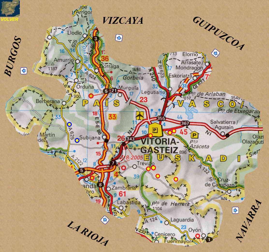 Basque Country Map Bevagna