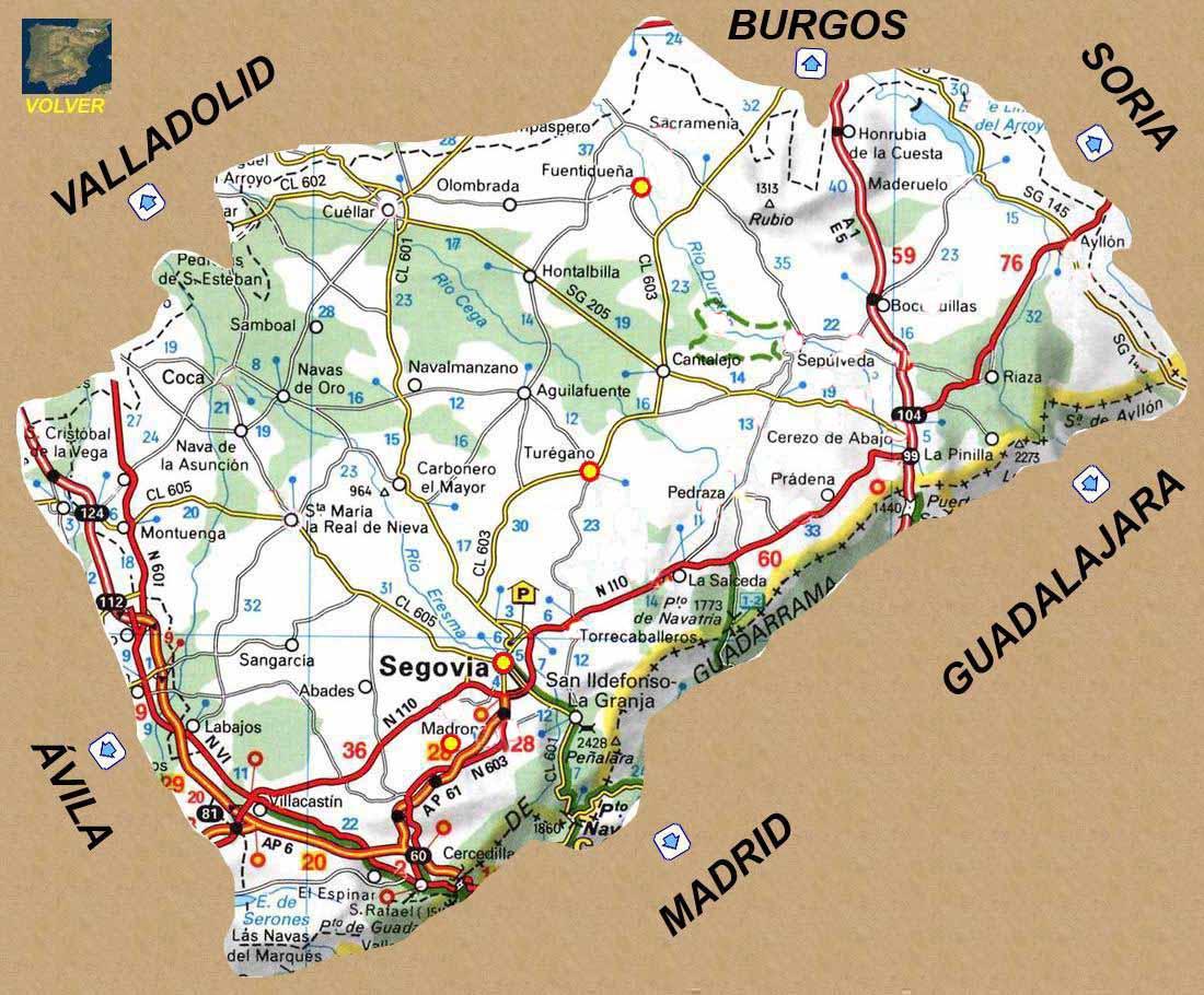 Provincia De Segovia Mapa.Rutas Romanicas Por Segovia A Garcia Omedes